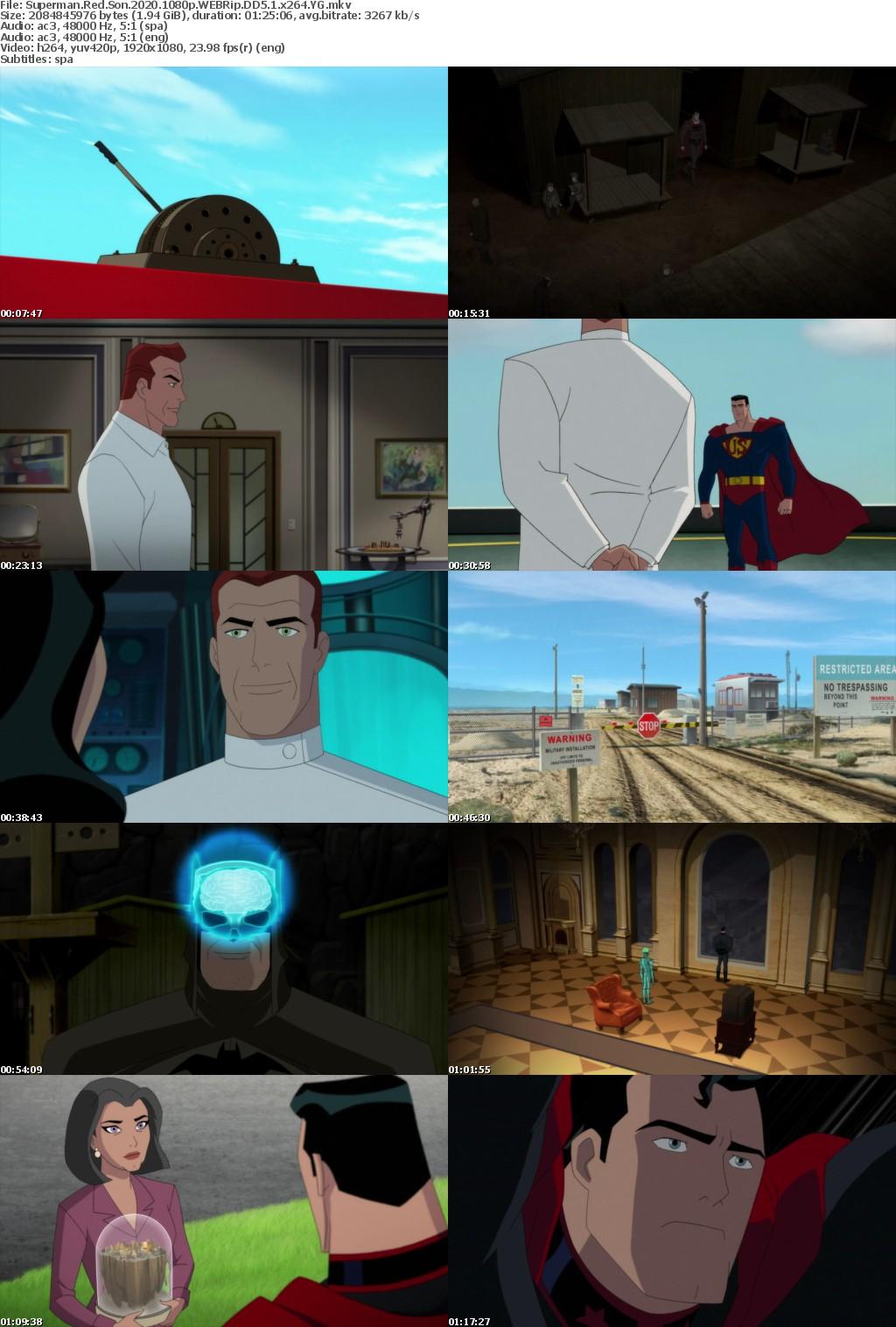 Superman Red Son (2020) 1080p WEBRip DD5.1 x264 YG