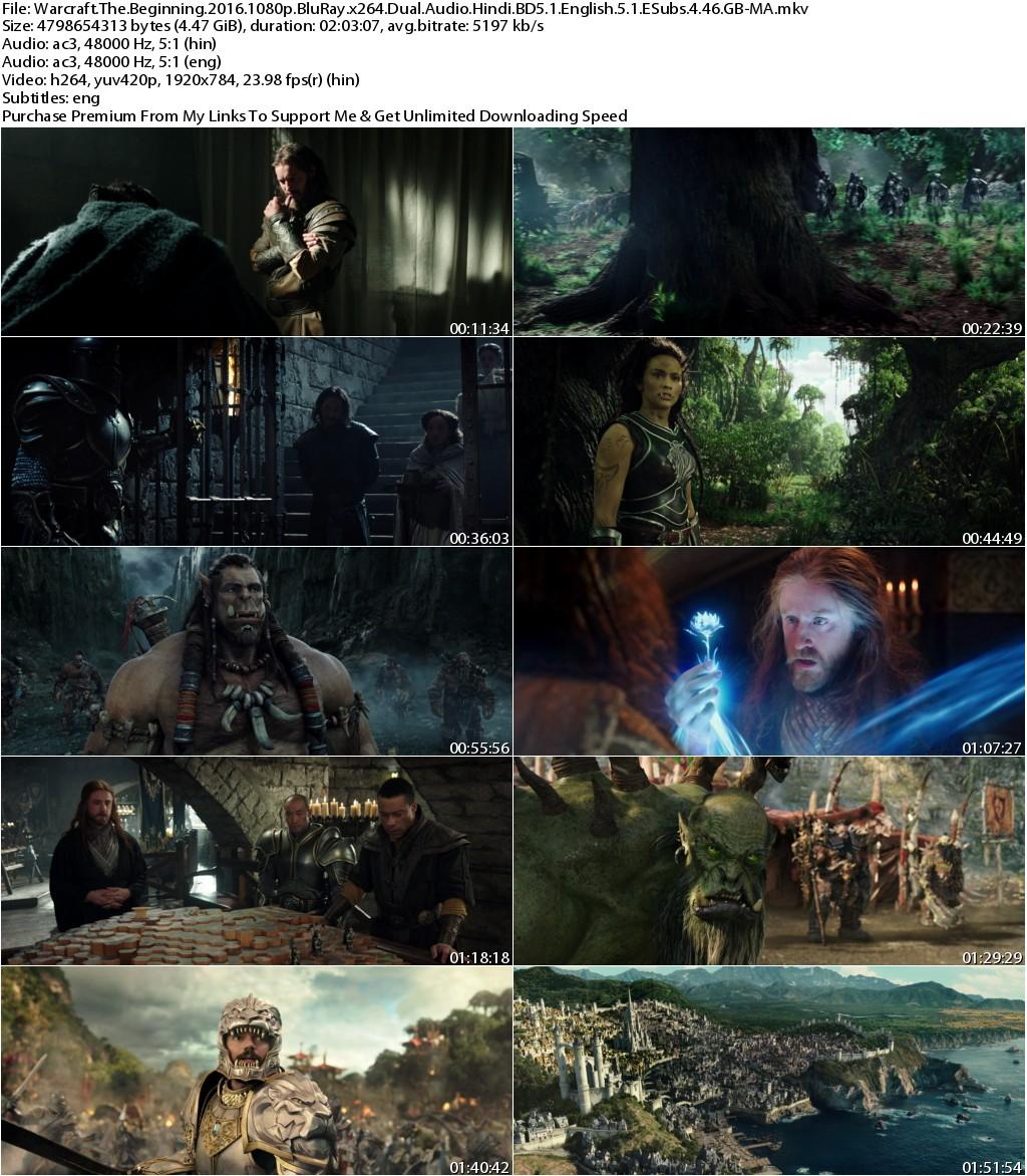 Warcraft (2016) 1080p BluRay x264 Dual Audio Hindi BD5.1 English 5.1 ESubs 4.46 GB-MA