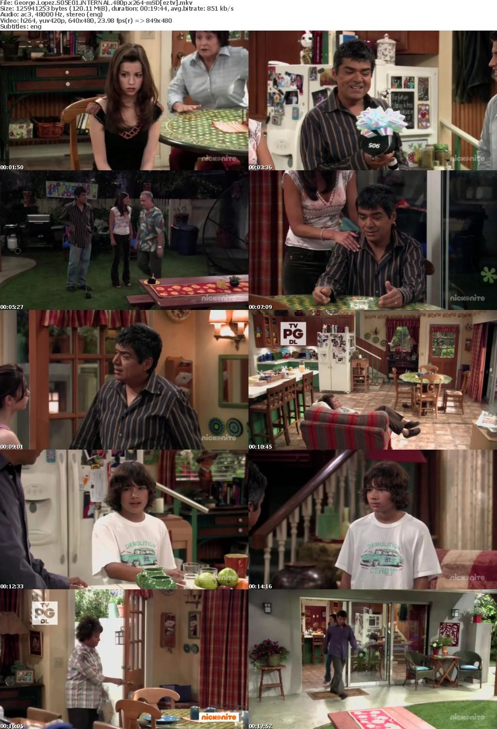 George Lopez S05E01 iNTERNAL 480p x264-mSD