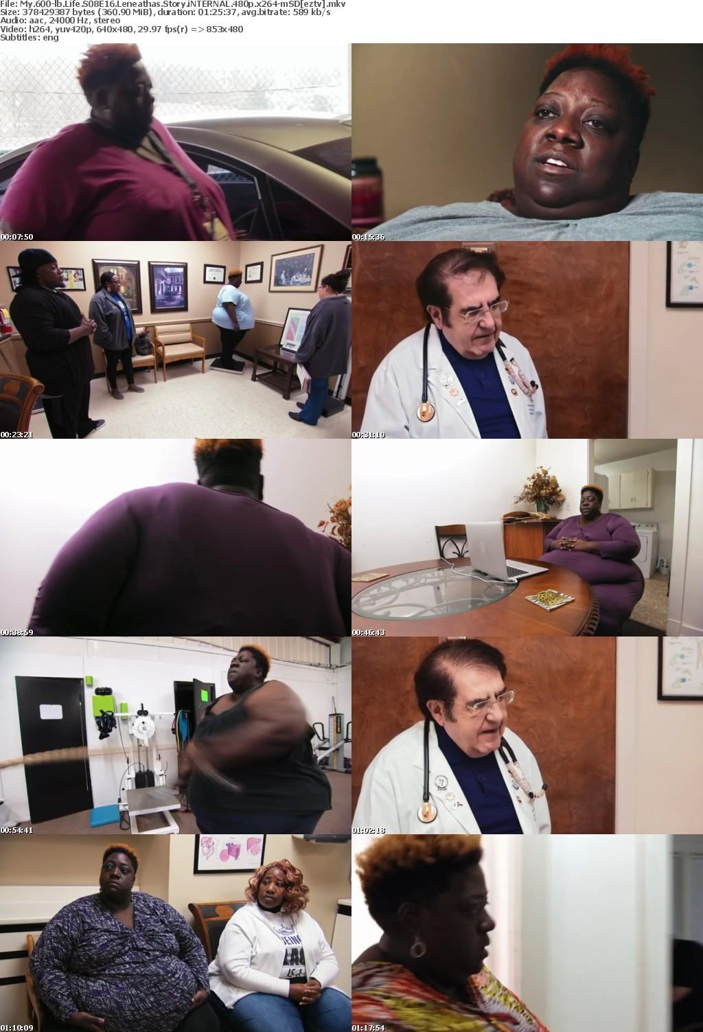 My 600-lb Life S08E16 Leneathas Story iNTERNAL 480p x264-mSD