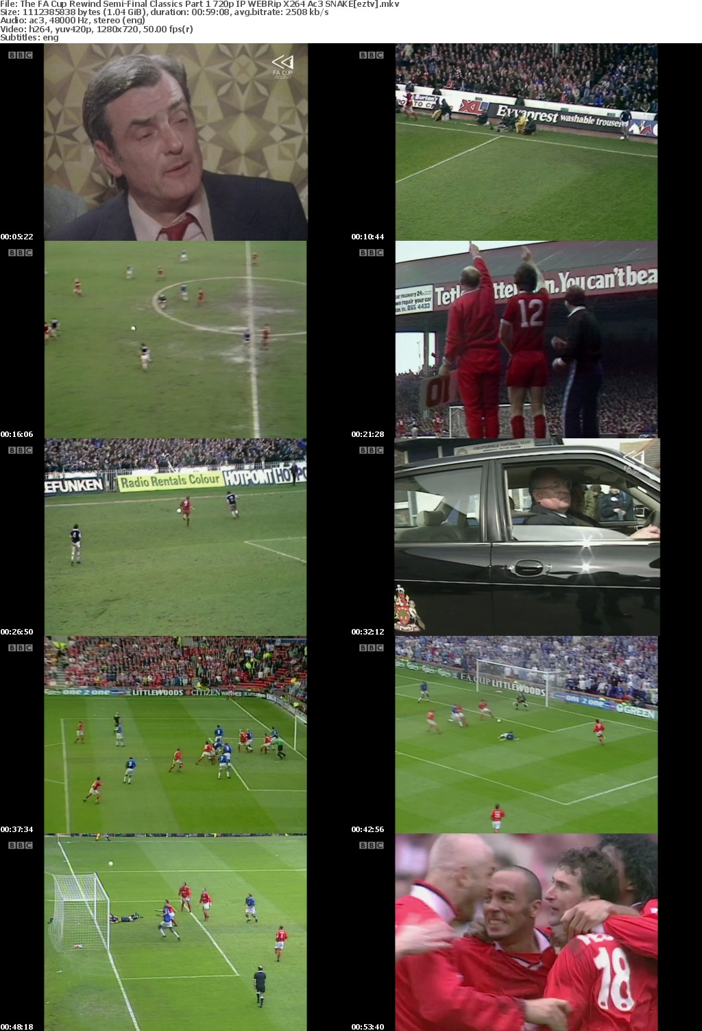 The FA Cup Rewind: Semi-Final Classics Part 1 720p IP WEBRip X264 Ac3 SNAKE