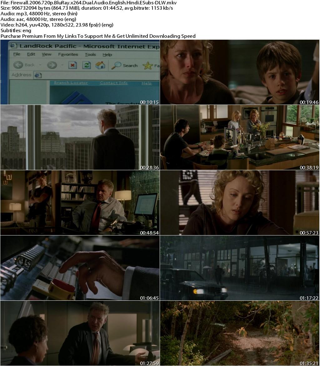 Firewall (2006) 720p BluRay x264 Dual Audio English Hindi ESubs-DLW