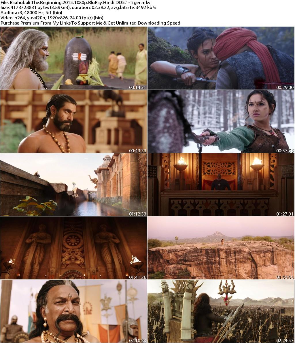 Baahubali The Beginning (2015) 1080p BluRay Hindi DD5.1-Tiger