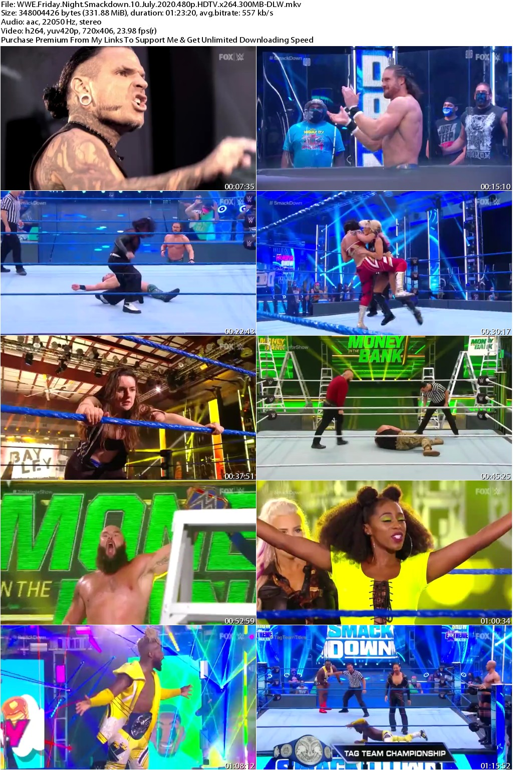 WWE Friday Night Smackdown 10 July 2020 480p HDTV x264 300MB-DLW