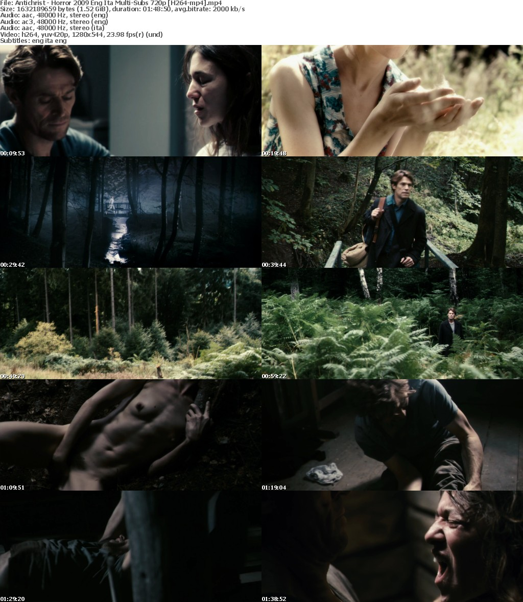 Antichrist - Rated X or NC Horror 2009 Eng Ita Multi-Subs 720p H264-mp4