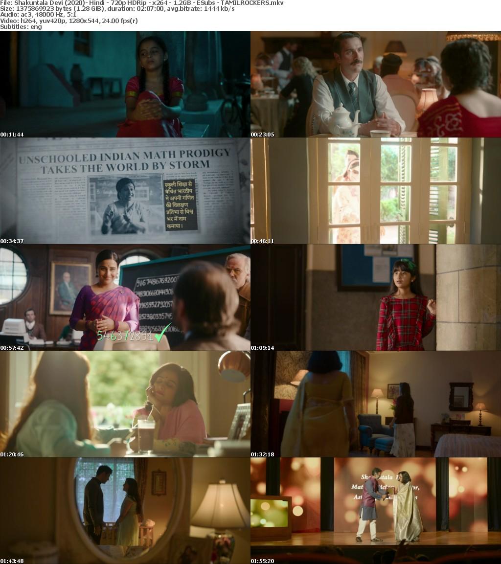 Shakuntala Devi (2020)- Hindi - 720p HDRip - x264 - 1 2GB - ESubs - TAMILROCKERS