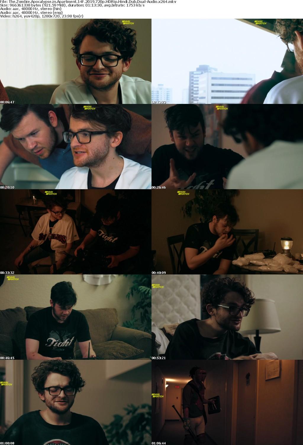 The Zombie Apocalypse in Apartment 14F (2019) 720p HDRip Hindi-Dub Dual-Audio x264