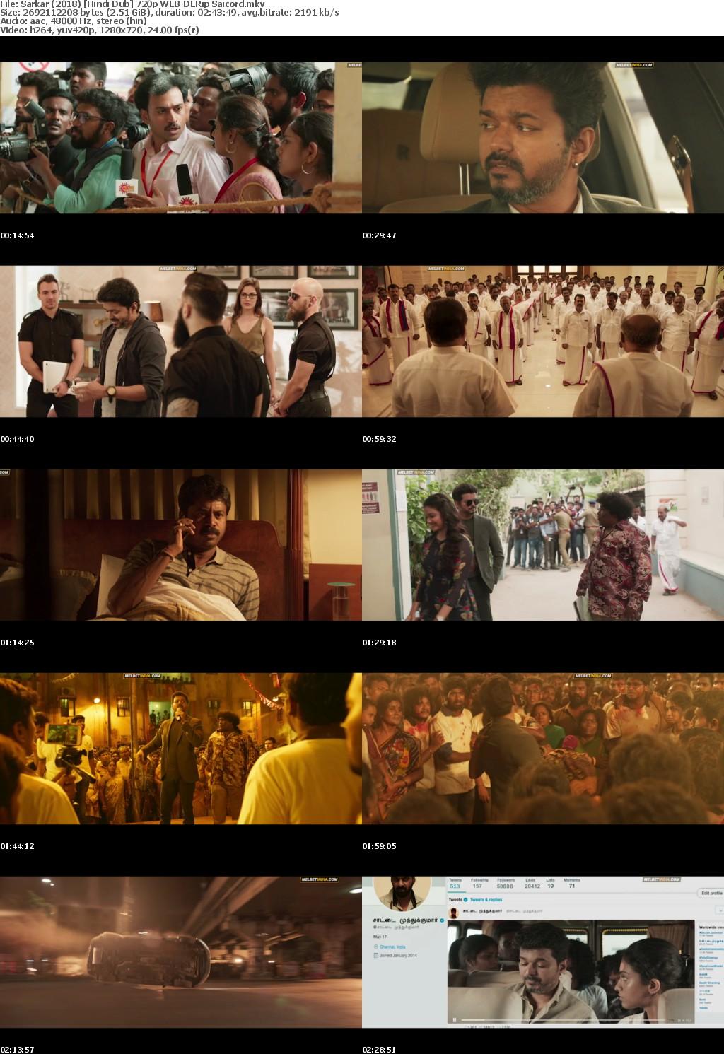 Sarkar (2018) Hindi Dub 720p WEB-DLRip Saicord