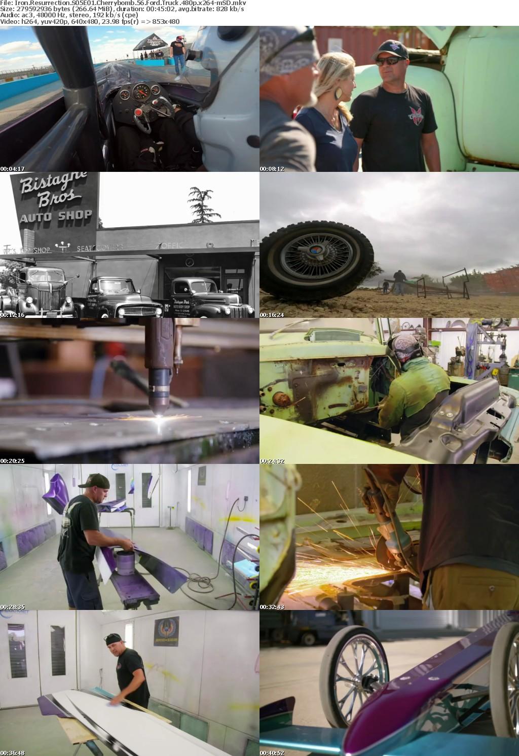Iron Resurrection S05E01 Cherrybomb 56 Ford Truck 480p x264-mSD