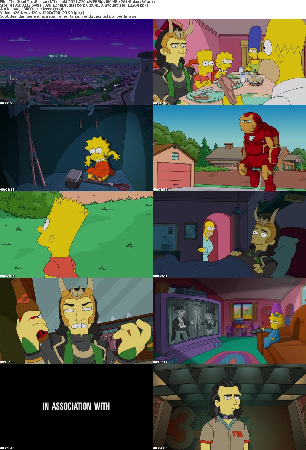 The Good The Bart and The Loki 2021 720p WEBRip 400MB x264-GalaxyRG