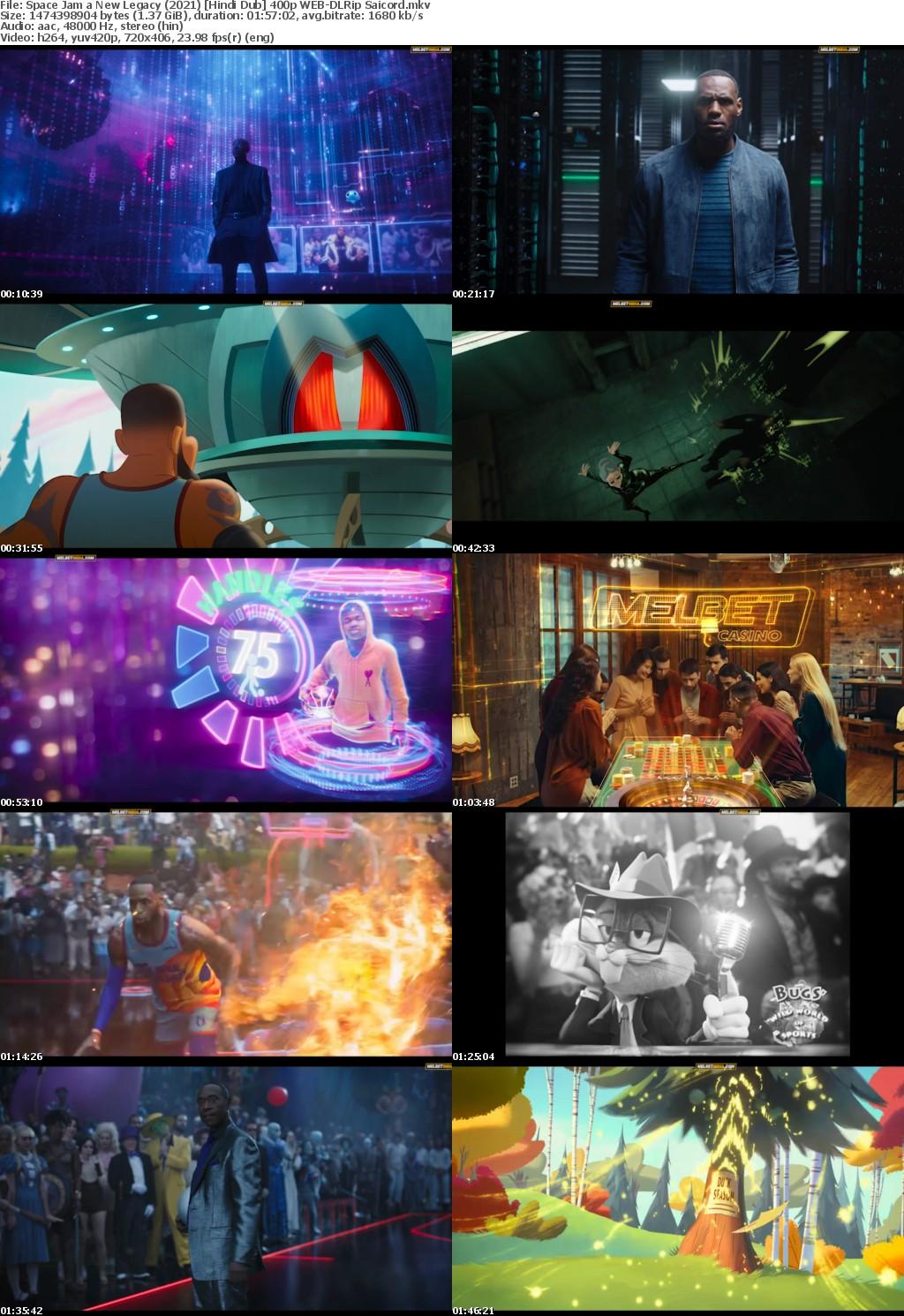 Space Jam a New Legacy (2021) Hindi Dub WEB-DLRip Saicord